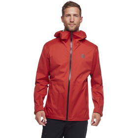 Black Diamond Stormline Chaqueta Stretch Rain Shell Hombre, red rock